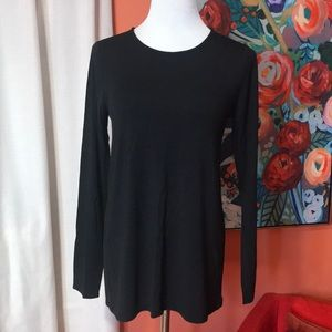 Long Sleeve Fitted Tee A&D - Black